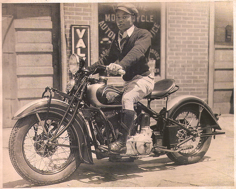 Black History Vintage Indian Scout Motorcycle Rider. A True ...