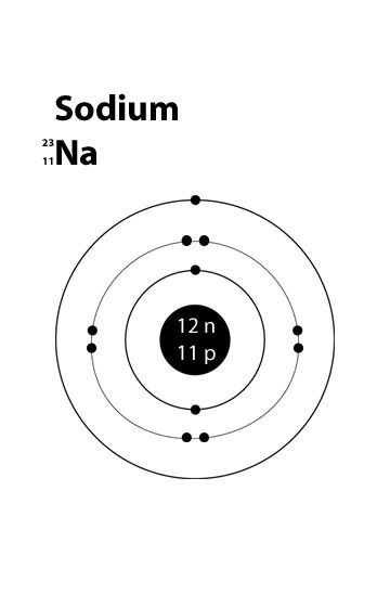 simple atom diagram 2002 nissan altima stereo wiring atomic structure of sodium science pinterest