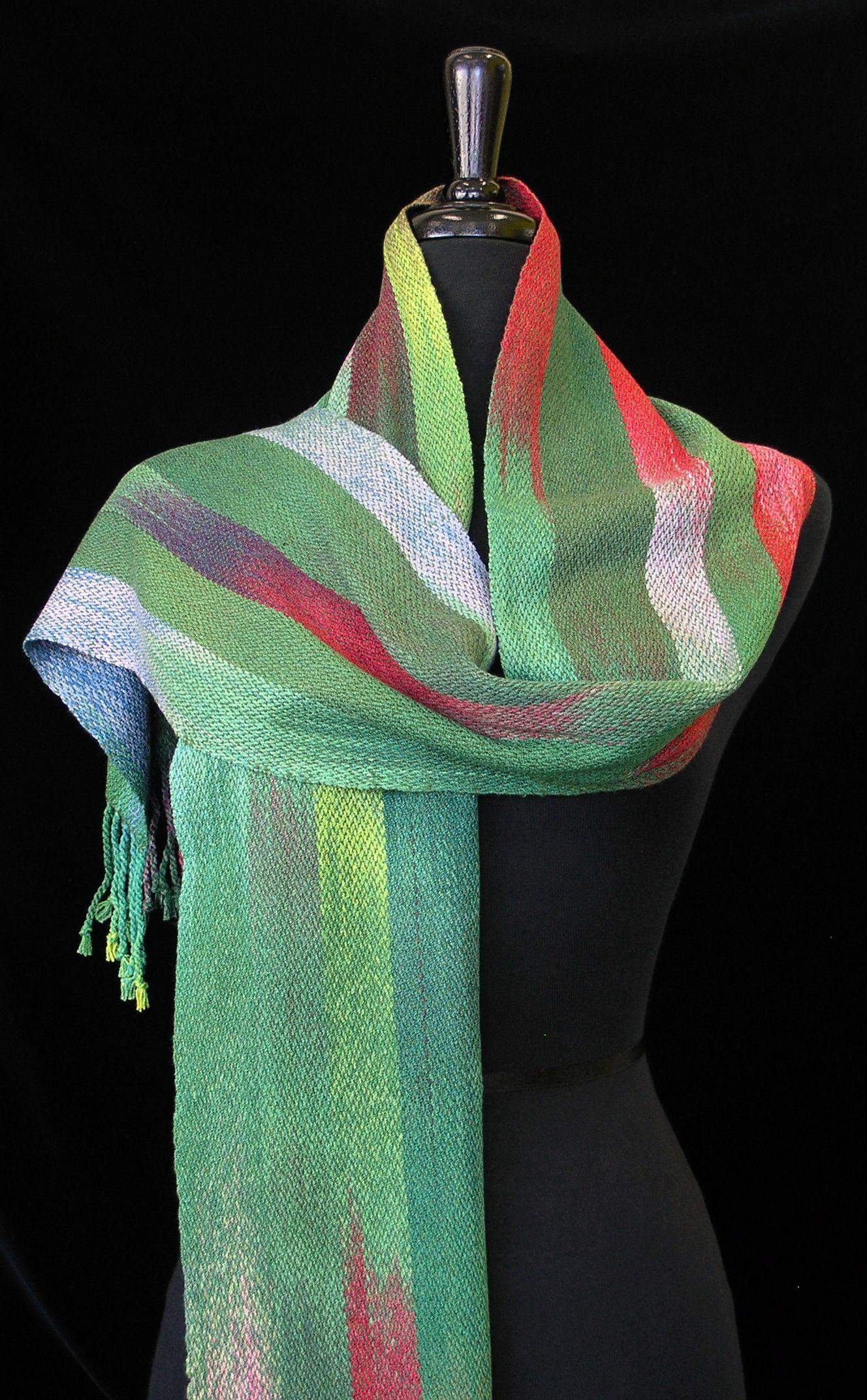 Handwoven scarf by Geri Retzlaff. photo by Aimee Radman