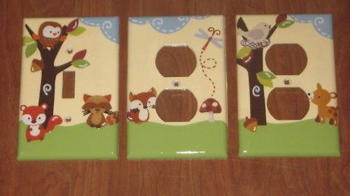 Switchplate or Outlet mw carters tree top forest friend