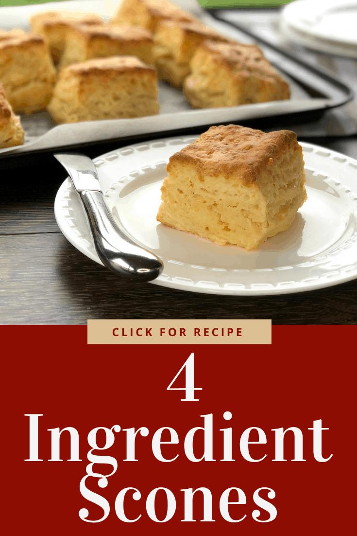 4 Ingredient Cheese Scones Recipe In 2020 Cheese Scones Savoury Baking Easy Cake Recipes