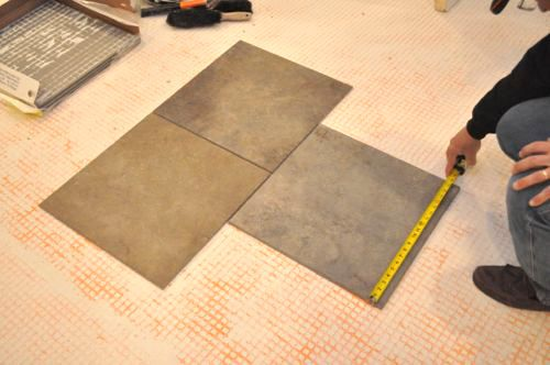 How To Mark Guidelines For Installing Tile Radiant Heat Cement