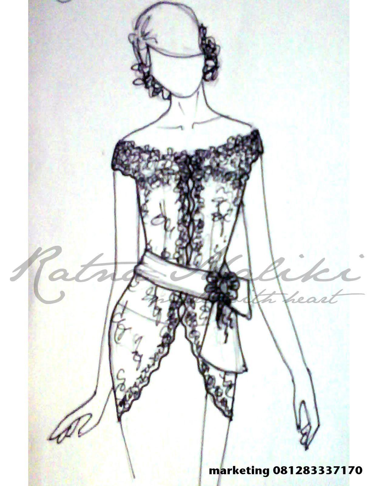 Ratna Maliki Model Kebaya Modern Lengan Pendek
