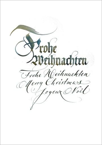 gesch ftlicher weihnachtsgru mit kalligraphie typography calligraphy pinterest. Black Bedroom Furniture Sets. Home Design Ideas