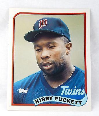 Vintage 1989 Kirby Puckett Minnesota Twins Topps Baseball Card