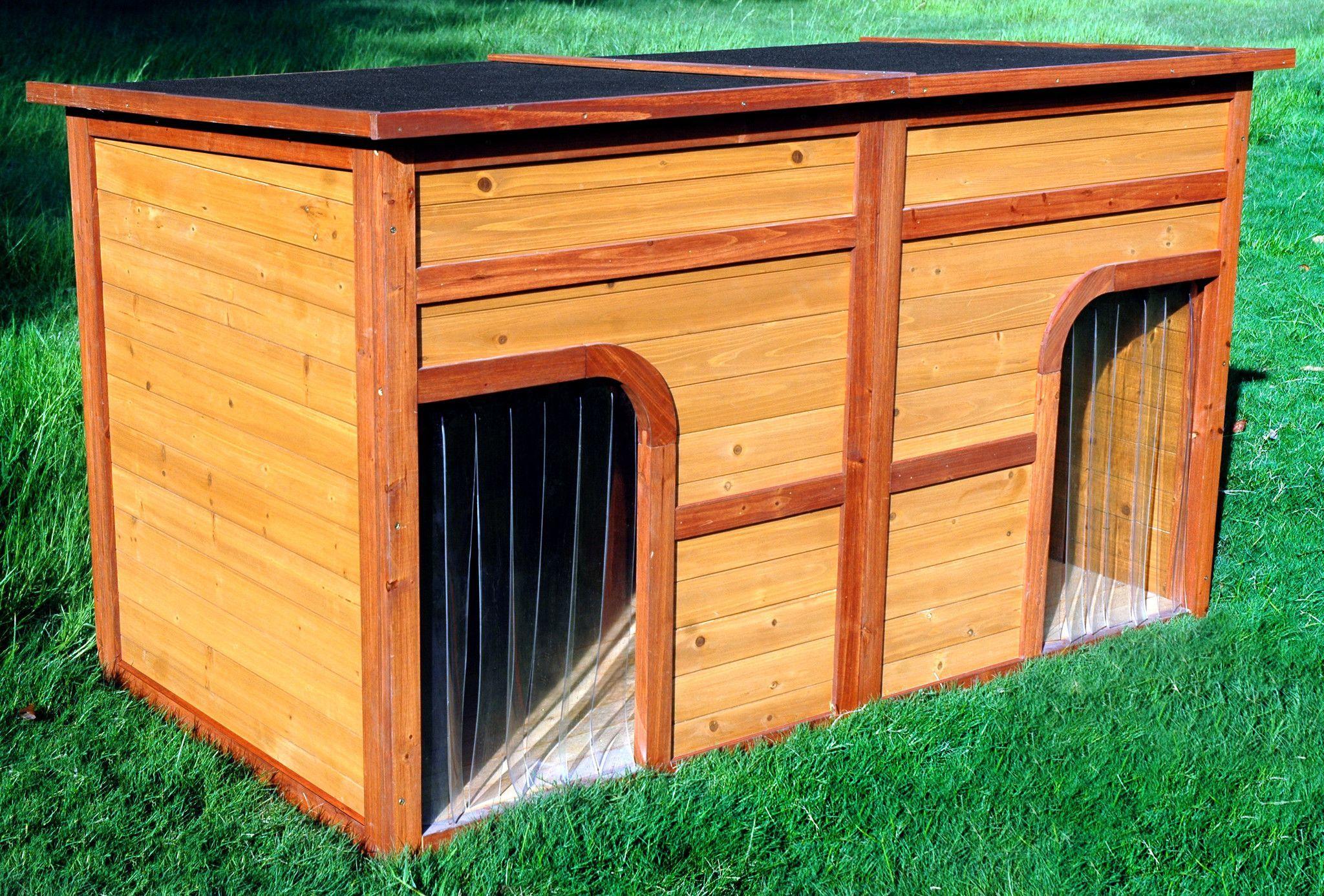 Flat Top Duplex Dog House Cool Dog Houses Wooden Dog House Dog