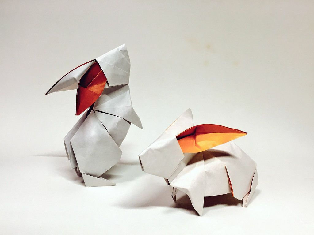 Rabbits by shotaro mineo origami pinterest rabbit origami rabbits by shotaro mineo jeuxipadfo Image collections