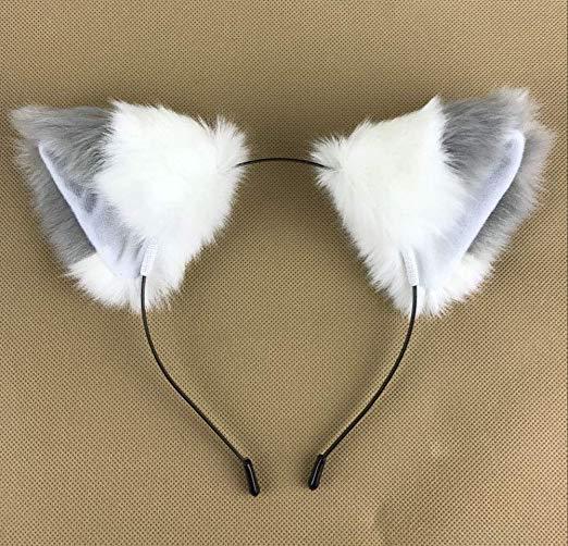 Amazon Com Buyitnow Fur Cat Fox Ears Hair Clip Anime Cosplay Hairpin Halloween Accessories Clothing Ear Hair Halloween Accessories Hair Clips