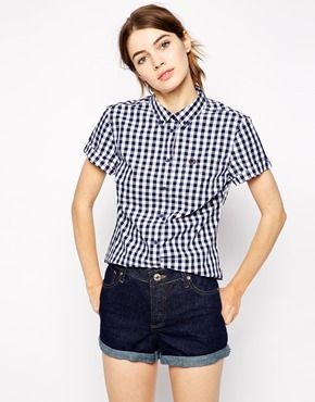Fred+Perry+Gingham+Short+Sleeved+Shirt. ASOS