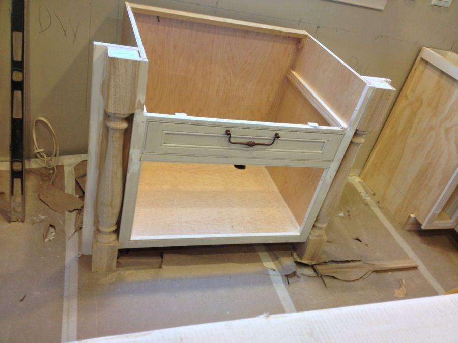 farmhouse sink base with legs in cabinet | Farm house ...