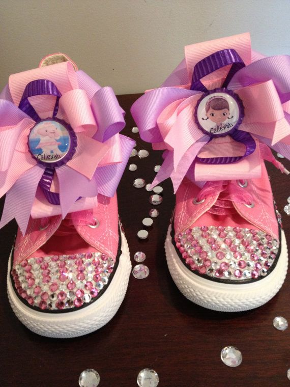 780f00a1ac63 Converse bling Doc Mcstuffins by Babyboutiquebycp on Etsy