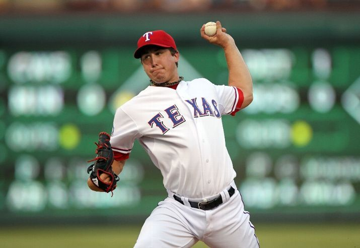 Arlington Tx July 31 Derek Holland 45 Of The Texas Rangers Pitches Against The Los Angeles Angels Of Anaheim On Ju Texas Rangers Ranger Los Angeles Angels