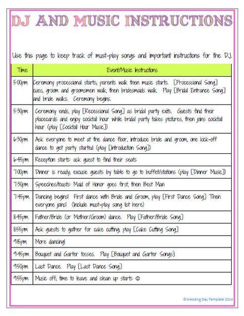 wedding song checklist