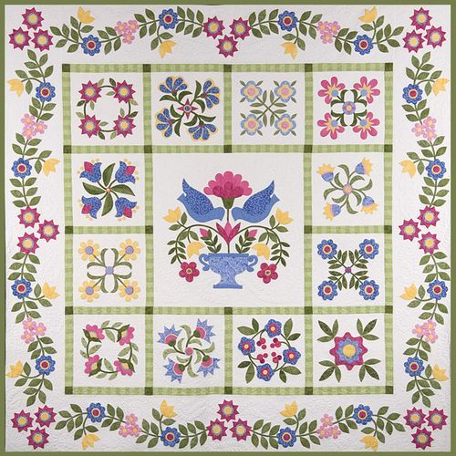 applique quilts   Applique Quilts: Bluebird's Piece O'cake ... : appliqued quilts - Adamdwight.com