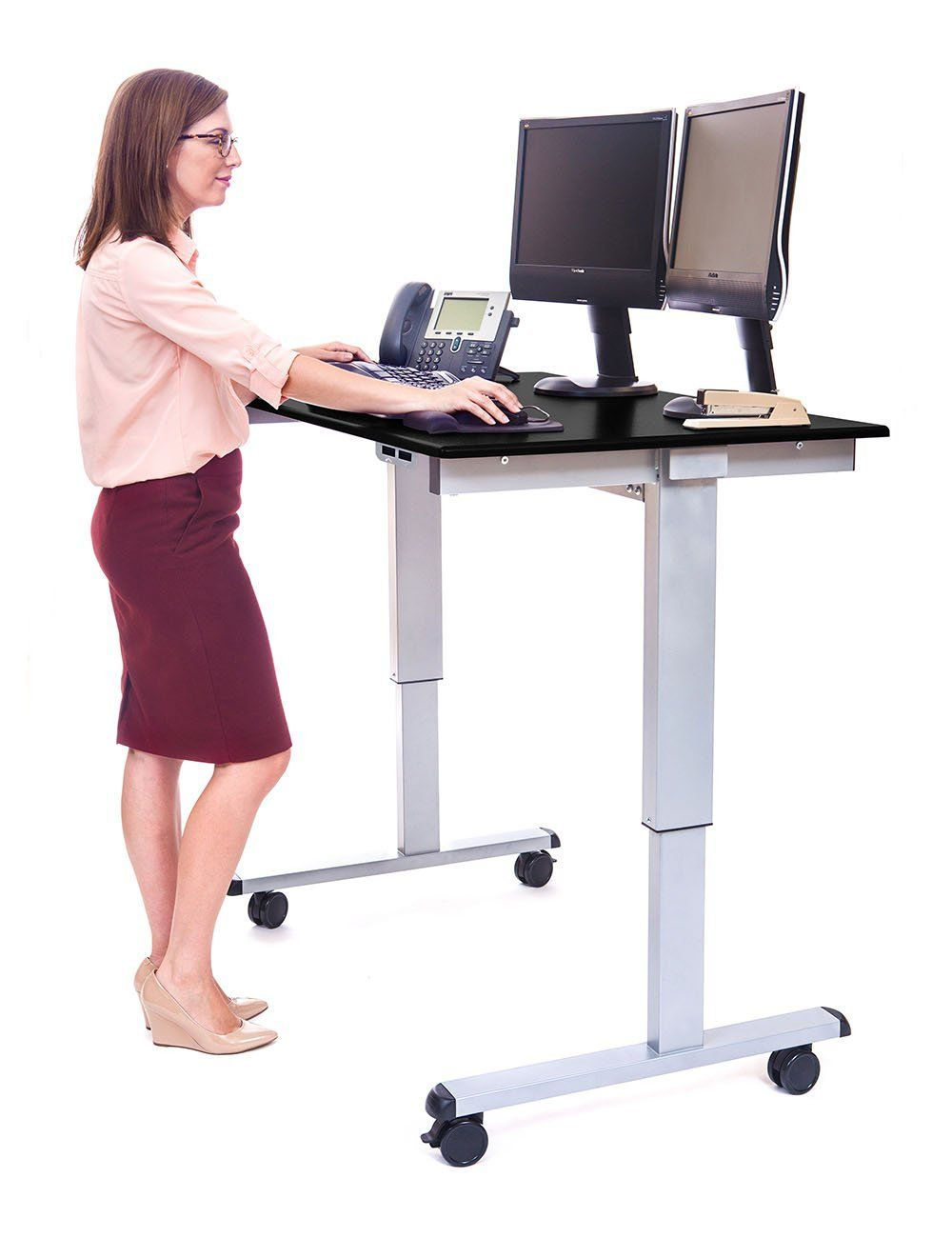 Our Article Provides Details About The Standing Desks That Come With Lockable Caster W Adjustable Height Standing Desk Adjustable Standing Desk Adjustable Desk