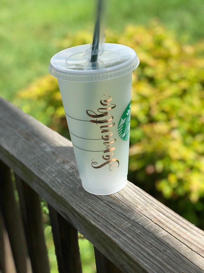 Authentic Starbucks Cold Cup Custom Starbucks Veti Etsy In 2020 Cold Cup Custom Starbucks Cup Starbucks Cups