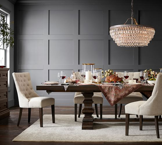 Banks Dining Collection Wood Dining Furniture Pottery Barn With Images Extendable Dining Table Beautiful Dining Rooms Dining Table