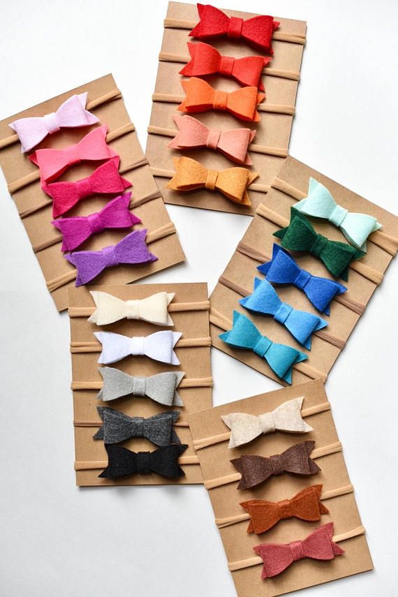 These mini felt bows are perfect! They are so cute and there is a color to match any outfit! (See pictures