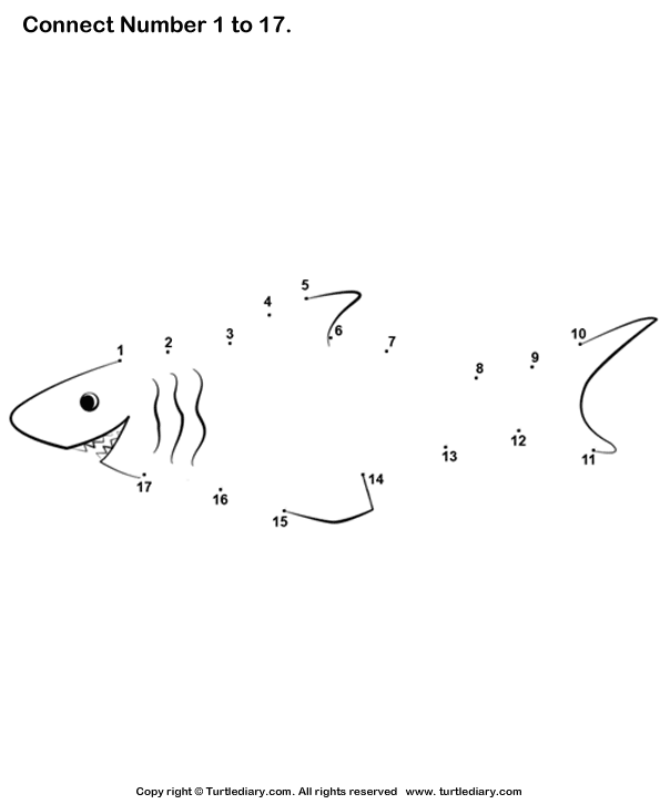 Shark dot to dot FREE printable School and Work – Free Connect the Dots Worksheets