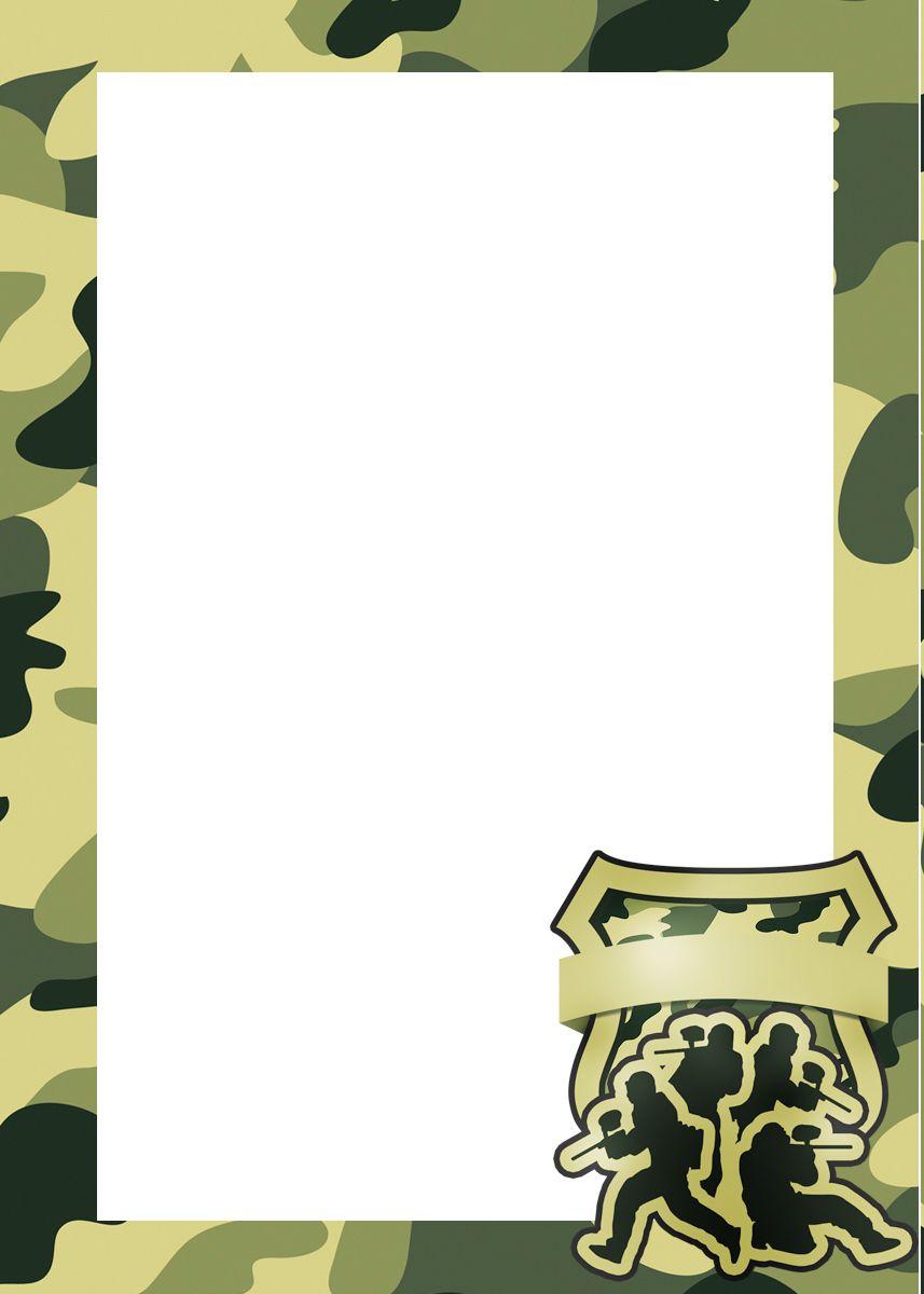 Convite, Cartão ou Moldura Kit Militar Camuflado | Camouflage ...
