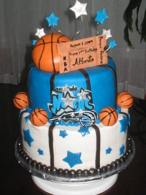 Magnificent Orlando Magic Cake With Images Magic Cake Cake Magic Birthday Personalised Birthday Cards Beptaeletsinfo