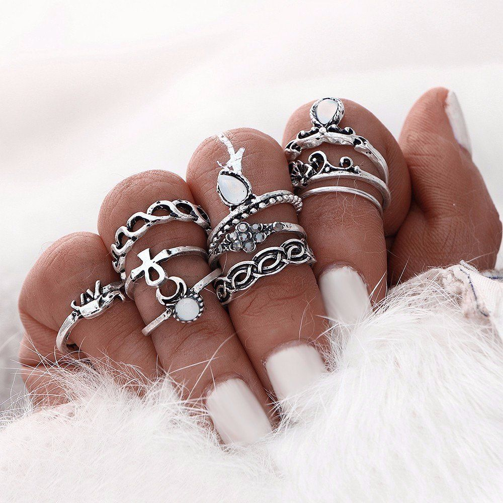 Boho Bohemian Style Starling Silver Or Gold Midi Ring Jewelry