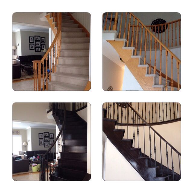 Before And After - Staircase Remodel