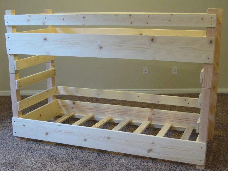diy bunk beds kids toddler diy bunk bed plans fits crib size mattresses - Bunk Beds For Kids Plans