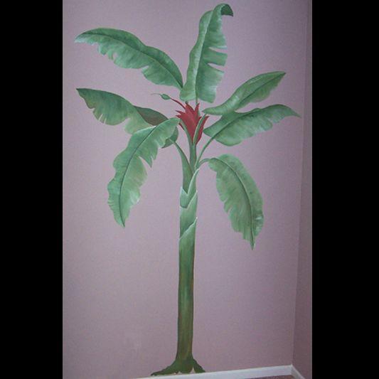 Banana tree mural