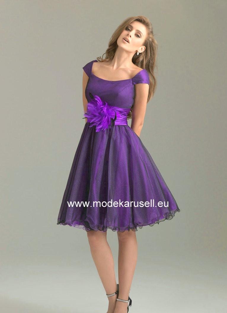 Süsses Knielanges Abendkleid in Lila  Abendkleid, Kleider