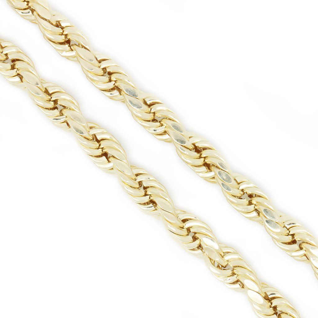 10k Yellow Gold 5 5 Mm Rope Chain Necklace 28 Inches Rope Chain Chain Necklace Chain