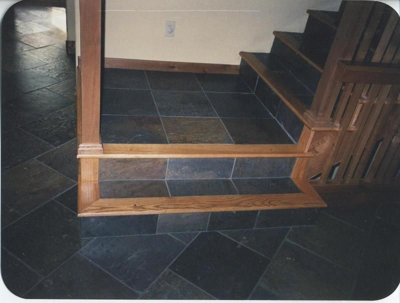 Oak Steps And Risers | ... Custom Wood Floors, Inc.   Red