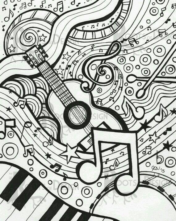Inspiracion Zen Music Coloring Music Art Print Coloring Pages
