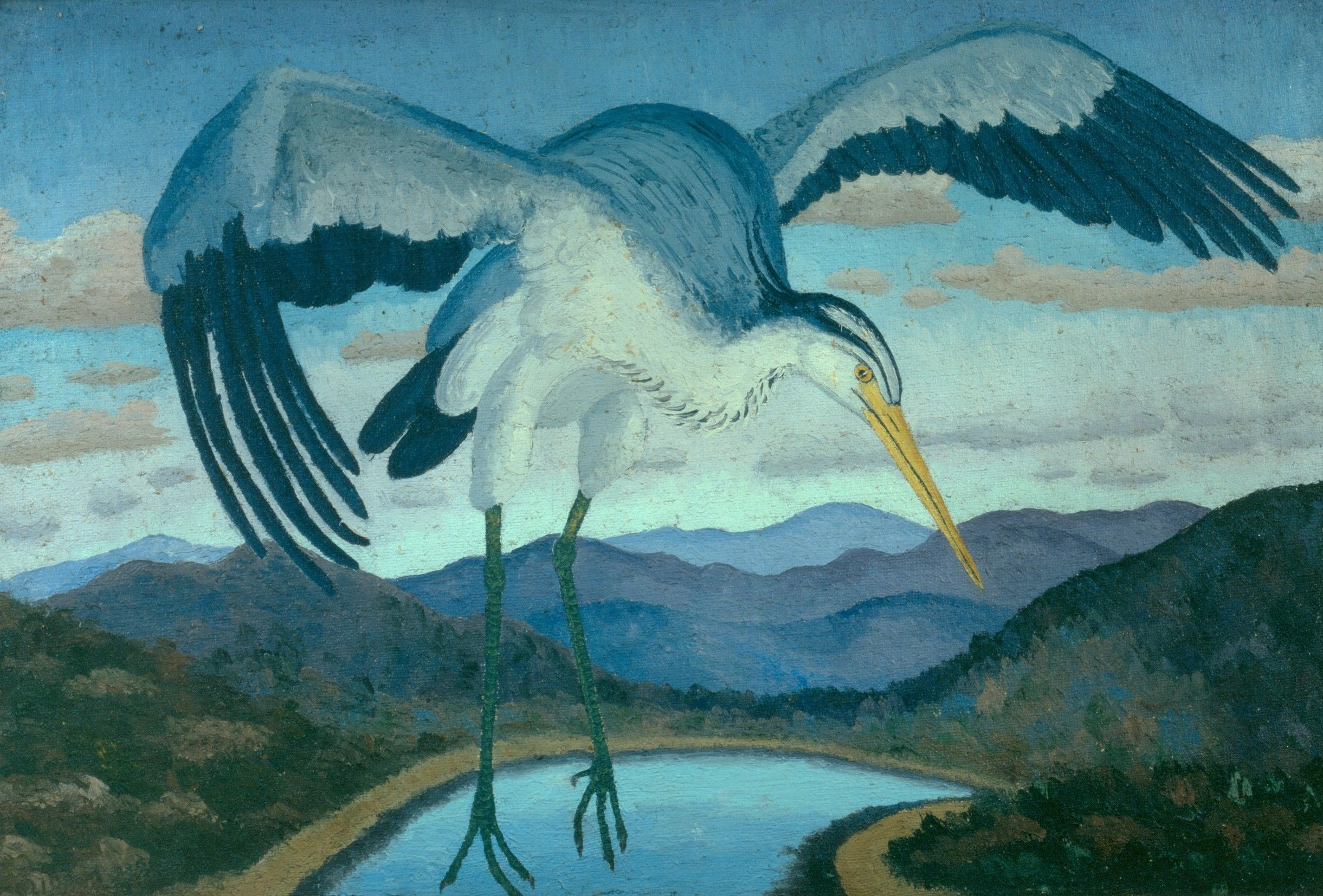 The Heron by Sir Cedric Morris, one of several works in the Astley Cheetham Art collection that is currently touring China as part of a Greater Manchester Museums Group touring exhibition.