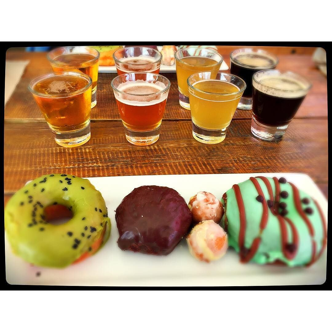 More #lifestylist research - beer and donut pairings at #luckdallas #dallasdweller #ilovemyjob