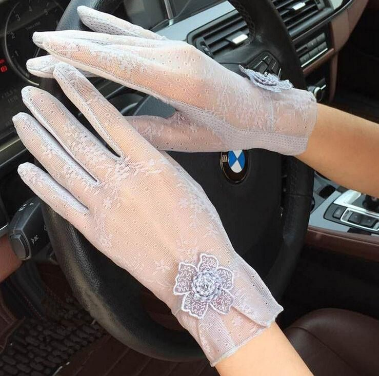 b89059bca New Fashion Summer Lace Gloves For Women Sunscreen Anti-UV Thin gloves with  Flowers Women's Spring Driving Gloves #love #styles #style #beautiful  #stylish ...