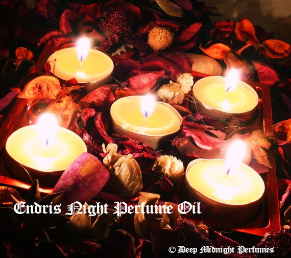 ENDRIS NIGHT Perfume Oil -  Sweet Frankincense, Sandalwood, Red Musk, Orange Blossom, Clove - Victorian Perfume - Christmas Perfume, Yule