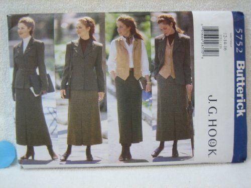 Butterick Pattern 5752 Misses' Petite Jacket, Belt, Vest & Skirt (Sizes 12-14-16) Butterick Pattern Service http://www.amazon.com/dp/B00FLOBWS4/ref=cm_sw_r_pi_dp_fDP8tb15C13B6