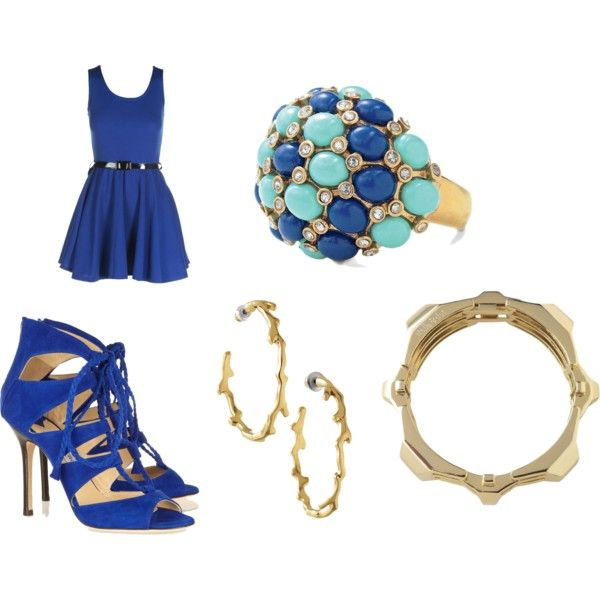 Got the blues~, created by geraldina-murtagh on Polyvore  A great look for day or night. Kick it up a notch with Stella & Dot Jewels! SHOP the new Summer Collection here www.stelladot.com/geraldinamurtagh