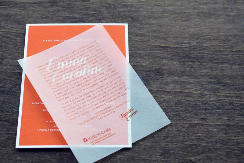 Emma S Modern Orange Bat Mitzvah Invitations Invitation Design