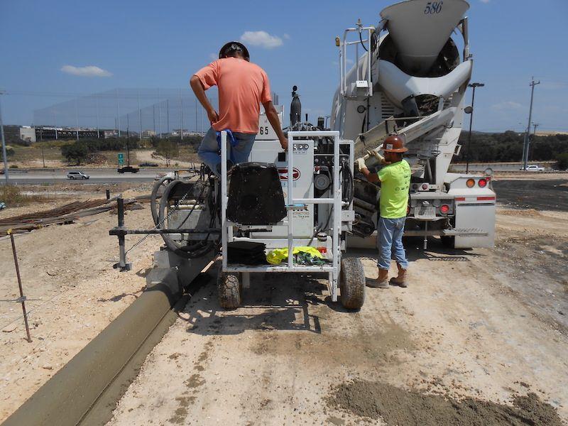 Slipform Machine Concrete Materials Gutter Conveyors