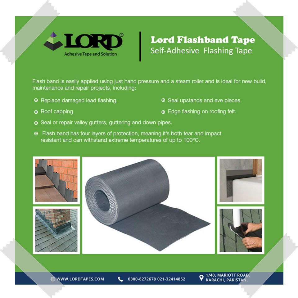Flash Band Is Easily Applied Using Just Hand Pressure And A Roller And Is Ideal For A New Build Maintenance And Repair Projects Repair Tapes How To Apply