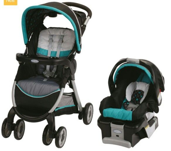 Graco Black And Blue Travel System Baby Girl Car Seats