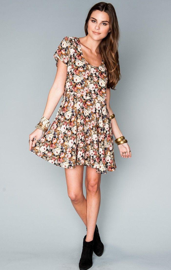 Show Me Your Mumu ~ Boyd Babydoll Dress ~ Frankie's Garden