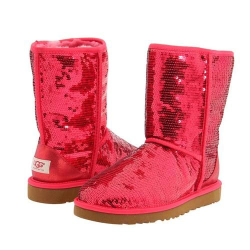 2013 NEW Uggs Women Classic Short Sparkles 3161 Red   Ugg