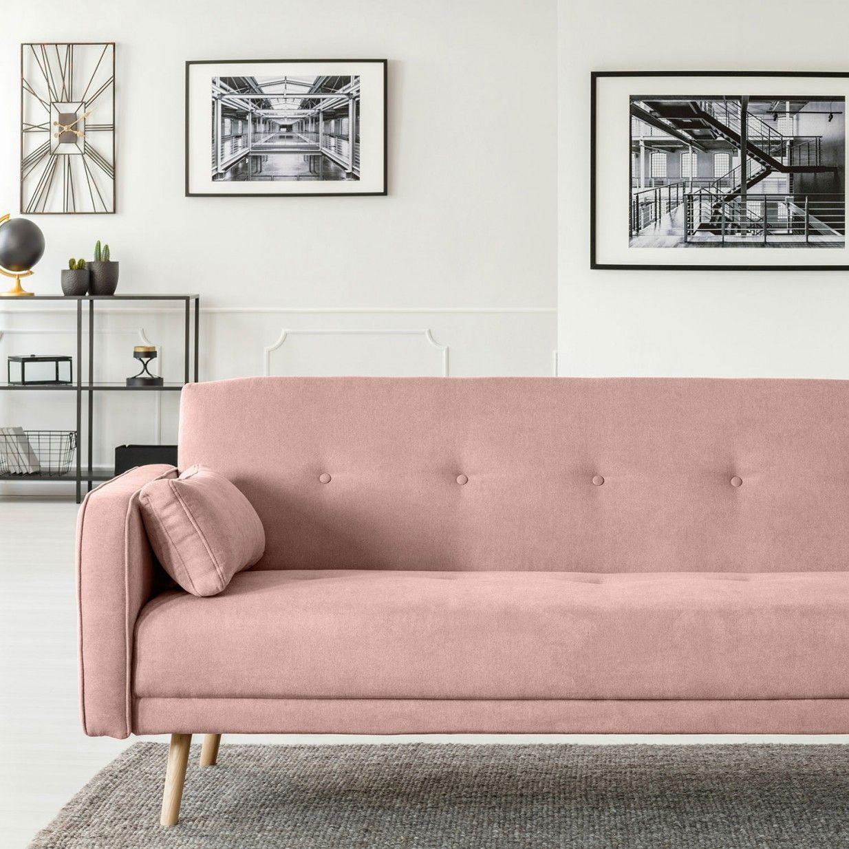 Stuttgart Sofa Bed - Pink | Cosmopolitan Design | MONOQI | Seating ...