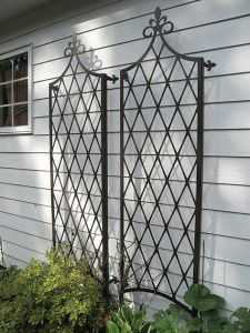 French Trellises By Trellis Art Designs Traditional French Trellises Are Bracketed To Wall The Sides Ar Modern Garden Trellis Wall Trellis Garden Trellis