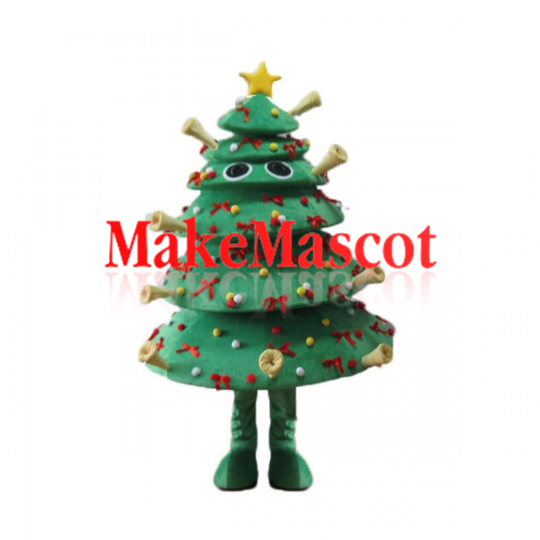 Christmas Tree Decorated Mascot Highly Original And Crazy Mascot Costume In 2020 With Images Christmas Tree Decorations Mascot Costumes Tree Decorations