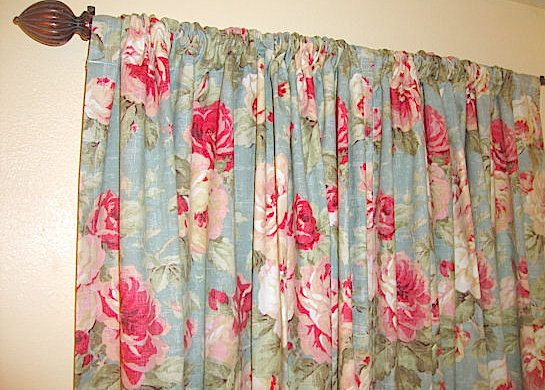 Teal Red Rose Curtains Queen Floral Rose By Bellashomedecor Rose