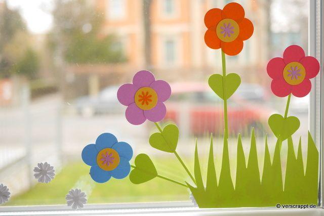Fruhling Spring Ostern Fensterbild Fensterdeko Fenster Dekoration